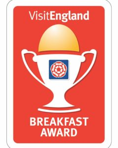 We won a breakfast award for our bed and breakfast in Somerset